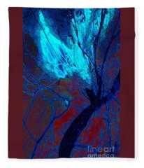 Yoga Angel At Midnight Fleece Blanket