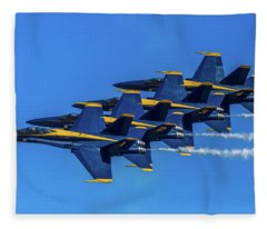 Blue Angels At Close Intervals Fleece Blanket