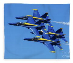 Blue Angels Very Close Formation 1 Fleece Blanket