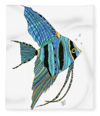 Blue Anglefish Fleece Blanket