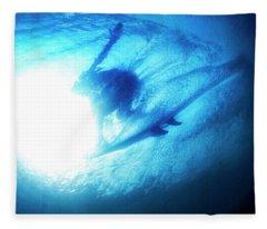 Blue Barrel Fleece Blanket