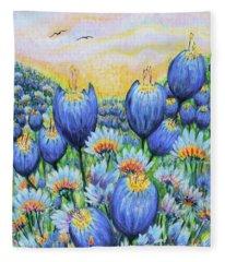 Blue Belles Fleece Blanket