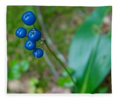 Blue Berries Fleece Blanket