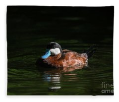 Blue Bill Ruddy Duck Fleece Blanket