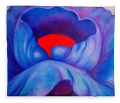 Blue Bloom Fleece Blanket
