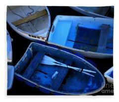 Blue Boats Fleece Blanket
