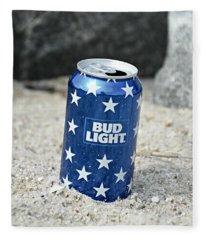 Blue Bud Light Fleece Blanket