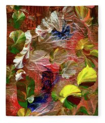 Blue Butterfly Jungle Fleece Blanket
