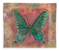 Blue Butterfly Fleece Blanket