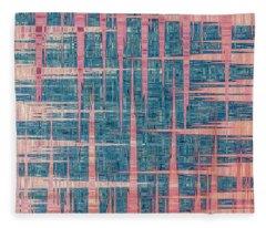 Blue By Pink Fleece Blanket