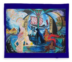 Five Celestial Celebrations                                        Blaa Kattproduksjoner  -  Fleece Blanket