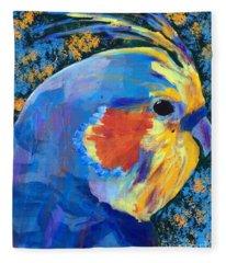 Blue Cockatiel Fleece Blanket