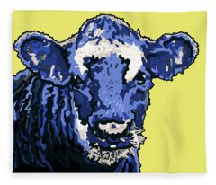 Blue Cow Fleece Blanket