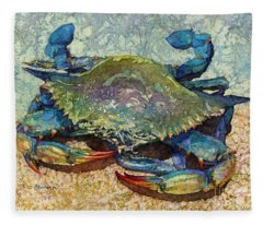 Blue Crab Fleece Blanket