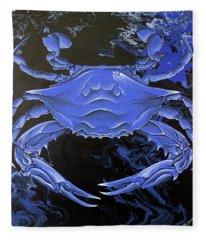 Blue Crab Fleece Blanket