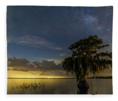 Blue Cypress Lake Nightsky Fleece Blanket