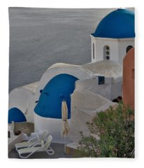 Blue Domes Fleece Blanket
