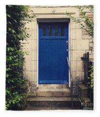 Blue Door In Ivy Fleece Blanket