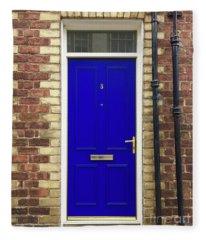 Blue Door Number 3 Fleece Blanket