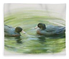 Blue Ducks  Fleece Blanket
