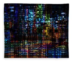 Blue Evening Fleece Blanket