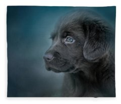 Blue Eyed Puppy Fleece Blanket
