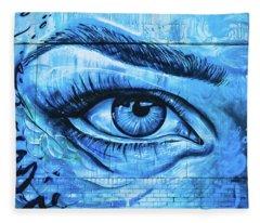 Blue Eyes Fleece Blanket