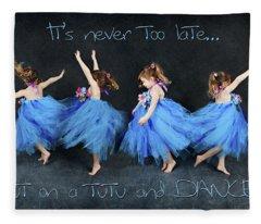 Blue Fairy Fleece Blanket