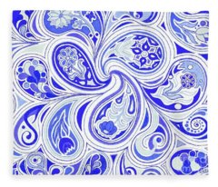 Blue Fantastic Fleece Blanket
