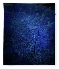 Blue Flowers Fleece Blanket
