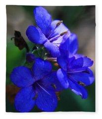 Blue For The Sun Fleece Blanket