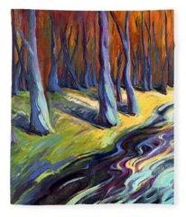 Blue Forest Fleece Blanket