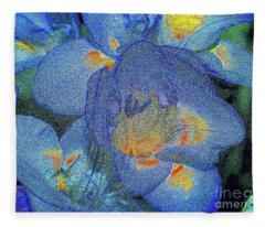 Blue Freesia's Fleece Blanket