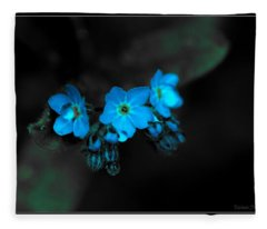 Blue Glow Fleece Blanket