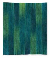 Blue Green Abstract 1 Fleece Blanket