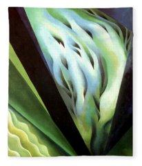 Blue Green Music Fleece Blanket