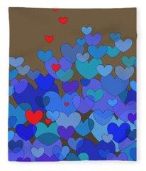 Blue Hearts Fleece Blanket