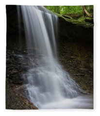 Blue Hen Falls And Alcove Fleece Blanket