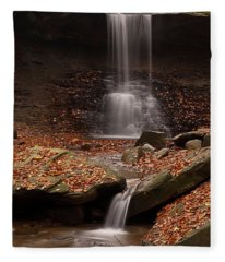 Blue Hen Falls And Cascade Fleece Blanket