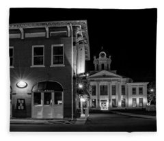 Blue Heritage In Black And White Fleece Blanket
