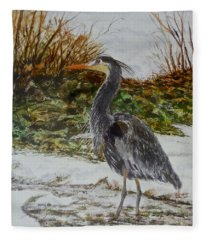 Blue Heron Fleece Blanket