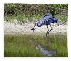 Blue Heron's Lucky Day Fleece Blanket