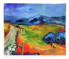 Blue Hills By Elise Palmigiani Fleece Blanket