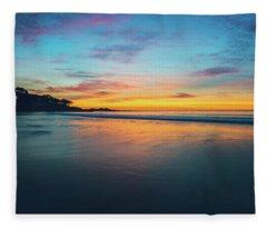 Blue Hour At Carmel, Ca Beach Fleece Blanket