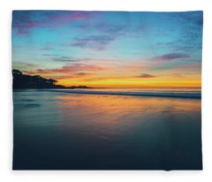 Blue Hour At Carmel, Ca Beach Fleece Blanket