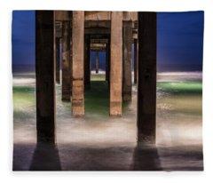 Blue Hour At Gulf Shores Alabama Pier  Fleece Blanket