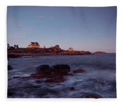 Blue Hour In Gloucester Fleece Blanket