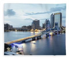 Blue Hour In Jacksonville Fleece Blanket
