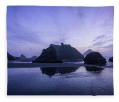 Blue Hour Reflections Fleece Blanket