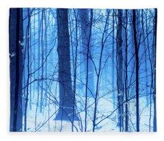 Blue Hour Sugarbush Fleece Blanket